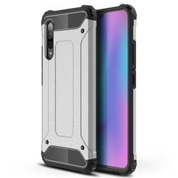 King Kong Armor Premium Shockproof Dual Layer Rugged Hard Cover for Samsung Galaxy A90 5G - White