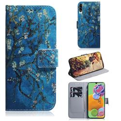 Apricot Tree PU Leather Wallet Case for Samsung Galaxy A90 5G
