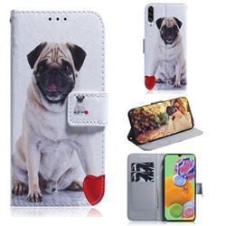 Pug Dog PU Leather Wallet Case for Samsung Galaxy A90 5G