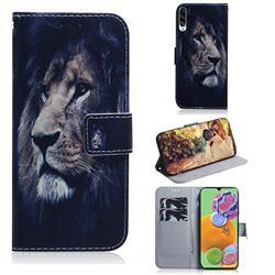 Lion Face PU Leather Wallet Case for Samsung Galaxy A90 5G