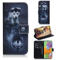 Wolf and Dog PU Leather Wallet Case for Samsung Galaxy A90 5G