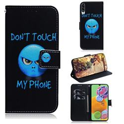 Not Touch My Phone PU Leather Wallet Case for Samsung Galaxy A90 5G