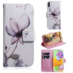 Magnolia Flower PU Leather Wallet Case for Samsung Galaxy A90 5G