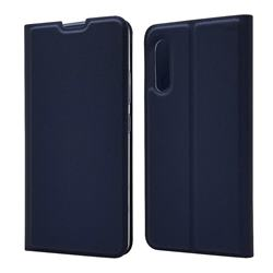 Ultra Slim Card Magnetic Automatic Suction Leather Wallet Case for Samsung Galaxy A90 5G - Royal Blue