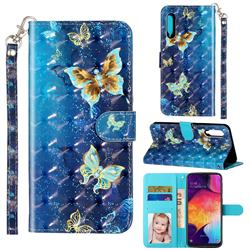 Rankine Butterfly 3D Leather Phone Holster Wallet Case for Samsung Galaxy A90 5G