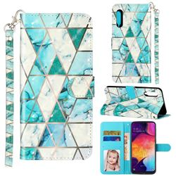 Stitching Marble 3D Leather Phone Holster Wallet Case for Samsung Galaxy A90 5G
