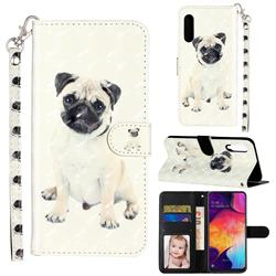 Pug Dog 3D Leather Phone Holster Wallet Case for Samsung Galaxy A90 5G