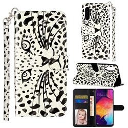 Leopard Panther 3D Leather Phone Holster Wallet Case for Samsung Galaxy A90 5G