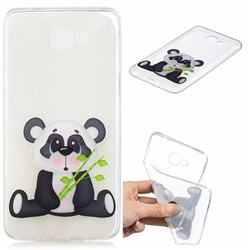 Bamboo Panda Clear Varnish Soft Phone Back Cover for Samsung Galaxy A9 (2018) / A9 Star Pro / A9s