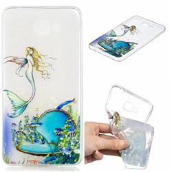 Mermaid Clear Varnish Soft Phone Back Cover for Samsung Galaxy A9 (2018) / A9 Star Pro / A9s