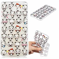 Mini Panda Clear Varnish Soft Phone Back Cover for Samsung Galaxy A9 (2018) / A9 Star Pro / A9s