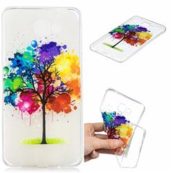 Oil Painting Tree Clear Varnish Soft Phone Back Cover for Samsung Galaxy A9 (2018) / A9 Star Pro / A9s