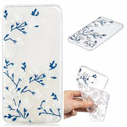 Magnolia Flower Clear Varnish Soft Phone Back Cover for Samsung Galaxy A9 (2018) / A9 Star Pro / A9s