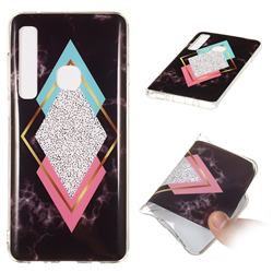Black Diamond Soft TPU Marble Pattern Phone Case for Samsung Galaxy A9 (2018) / A9 Star Pro / A9s