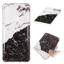 Black and White Soft TPU Marble Pattern Phone Case for Samsung Galaxy A9 (2018) / A9 Star Pro / A9s