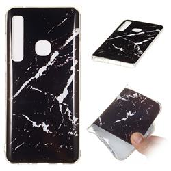 Black Rough white Soft TPU Marble Pattern Phone Case for Samsung Galaxy A9 (2018) / A9 Star Pro / A9s