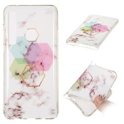 Hexagonal Soft TPU Marble Pattern Phone Case for Samsung Galaxy A9 (2018) / A9 Star Pro / A9s
