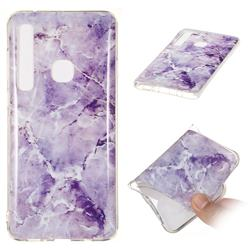 Light Gray Soft TPU Marble Pattern Phone Case for Samsung Galaxy A9 (2018) / A9 Star Pro / A9s