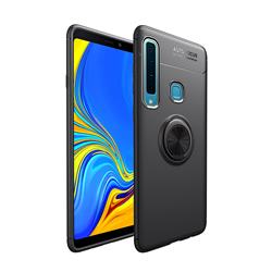 Auto Focus Invisible Ring Holder Soft Phone Case for Samsung Galaxy A9 (2018) / A9 Star Pro / A9s - Black