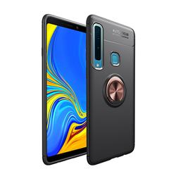 Auto Focus Invisible Ring Holder Soft Phone Case for Samsung Galaxy A9 (2018) / A9 Star Pro / A9s - Black Gold