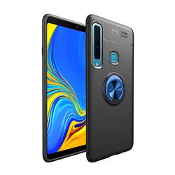 Auto Focus Invisible Ring Holder Soft Phone Case for Samsung Galaxy A9 (2018) / A9 Star Pro / A9s - Black Blue