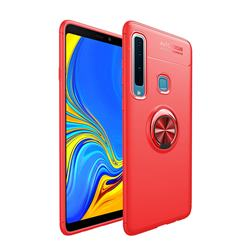 Auto Focus Invisible Ring Holder Soft Phone Case for Samsung Galaxy A9 (2018) / A9 Star Pro / A9s - Red