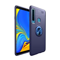 Auto Focus Invisible Ring Holder Soft Phone Case for Samsung Galaxy A9 (2018) / A9 Star Pro / A9s - Blue