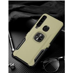 Knight Armor Anti Drop PC + Silicone Invisible Ring Holder Phone Cover for Samsung Galaxy A9 (2018) / A9 Star Pro / A9s - Champagne