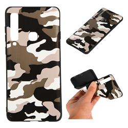 Camouflage Soft TPU Back Cover for Samsung Galaxy A9 (2018) / A9 Star Pro / A9s - Black White