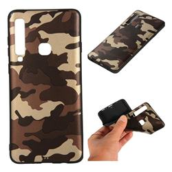 Camouflage Soft TPU Back Cover for Samsung Galaxy A9 (2018) / A9 Star Pro / A9s - Gold Coffee