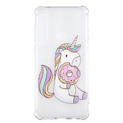 Donut Unicorn Anti-fall Clear Varnish Soft TPU Back Cover for Samsung Galaxy A9 (2018) / A9 Star Pro / A9s