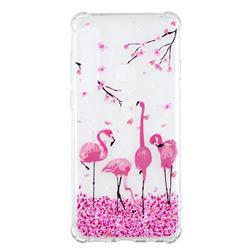 Cherry Flamingo Anti-fall Clear Varnish Soft TPU Back Cover for Samsung Galaxy A9 (2018) / A9 Star Pro / A9s