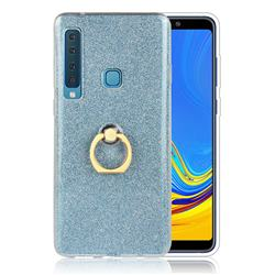 Luxury Soft TPU Glitter Back Ring Cover with 360 Rotate Finger Holder Buckle for Samsung Galaxy A9 (2018) / A9 Star Pro / A9s - Blue