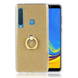 Luxury Soft TPU Glitter Back Ring Cover with 360 Rotate Finger Holder Buckle for Samsung Galaxy A9 (2018) / A9 Star Pro / A9s - Golden