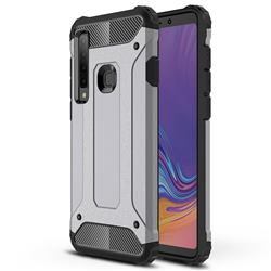 King Kong Armor Premium Shockproof Dual Layer Rugged Hard Cover for Samsung Galaxy A9 (2018) / A9 Star Pro / A9s - Silver Grey