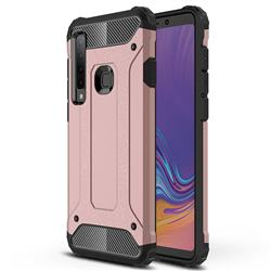 King Kong Armor Premium Shockproof Dual Layer Rugged Hard Cover for Samsung Galaxy A9 (2018) / A9 Star Pro / A9s - Rose Gold