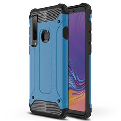 King Kong Armor Premium Shockproof Dual Layer Rugged Hard Cover for Samsung Galaxy A9 (2018) / A9 Star Pro / A9s - Sky Blue
