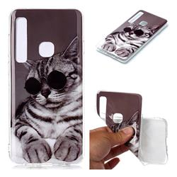 Kitten with Sunglasses Soft TPU Cell Phone Back Cover for Samsung Galaxy A9 (2018) / A9 Star Pro / A9s
