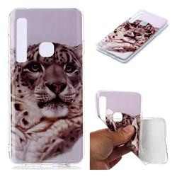 White Leopard Soft TPU Cell Phone Back Cover for Samsung Galaxy A9 (2018) / A9 Star Pro / A9s