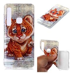 Cute Tiger Baby Soft TPU Cell Phone Back Cover for Samsung Galaxy A9 (2018) / A9 Star Pro / A9s