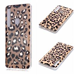 Leopard Galvanized Rose Gold Marble Phone Back Cover for Samsung Galaxy A9 (2018) / A9 Star Pro / A9s