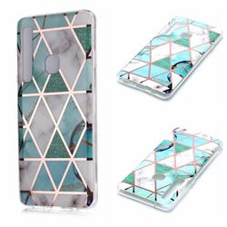 Green White Galvanized Rose Gold Marble Phone Back Cover for Samsung Galaxy A9 (2018) / A9 Star Pro / A9s