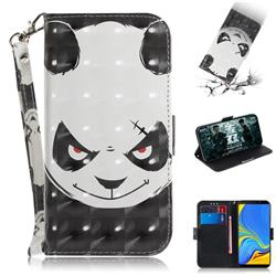 Angry Bear 3D Painted Leather Wallet Phone Case for Samsung Galaxy A9 (2018) / A9 Star Pro / A9s
