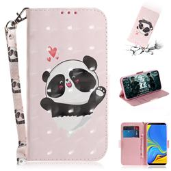 Heart Cat 3D Painted Leather Wallet Phone Case for Samsung Galaxy A9 (2018) / A9 Star Pro / A9s