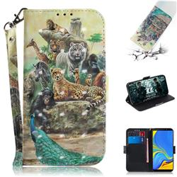 Beast Zoo 3D Painted Leather Wallet Phone Case for Samsung Galaxy A9 (2018) / A9 Star Pro / A9s