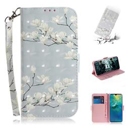 Magnolia Flower 3D Painted Leather Wallet Phone Case for Samsung Galaxy A9 (2018) / A9 Star Pro / A9s