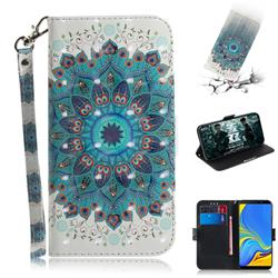 Peacock Mandala 3D Painted Leather Wallet Phone Case for Samsung Galaxy A9 (2018) / A9 Star Pro / A9s