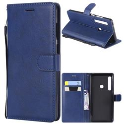 Retro Greek Classic Smooth PU Leather Wallet Phone Case for Samsung Galaxy A9 (2018) / A9 Star Pro / A9s - Blue