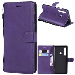Retro Greek Classic Smooth PU Leather Wallet Phone Case for Samsung Galaxy A9 (2018) / A9 Star Pro / A9s - Purple
