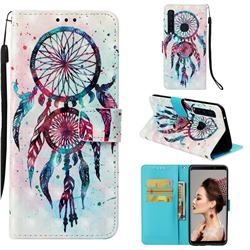 ColorDrops Wind Chimes 3D Painted Leather Wallet Case for Samsung Galaxy A9 (2018) / A9 Star Pro / A9s